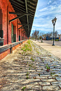 Reynolds Photo Metal Prints - Reynolds Street View - Southern Railway Depot in Augusta Metal Print by Mark E Tisdale