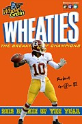 Rookie Of The Year Posters - RG3 ROY Wheaties Box Poster by Paul Van Scott