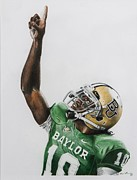 Ncaa Drawings Posters - Rgiii Poster by Brian Broadway