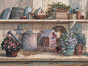 Watering Can Prints - Rhapsody in Rose Print by Michael Humphries