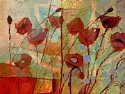 Red Poppies Paintings - Rhapsody by Lutz Baar
