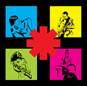 Red Blue Framed Prints - RHCP No.01 Framed Print by Caio Caldas