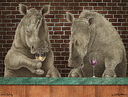 Wine Paintings - Rhine Tasting... by Will Bullas
