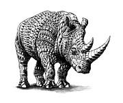 Rhinoceros Print by BioWorkZ