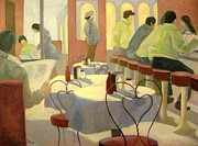 Ketchup Paintings - Rhode Island Cafe by Gretchen Allen