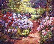 Rhododendron Stroll Print by David Lloyd Glover