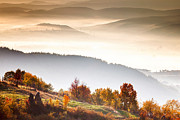 Rural Landscape Photo Prints - Rhodopean Morning Print by Evgeni Dinev