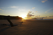Helvetia Posters - Rhossili beach sunset Poster by Premierlight Images