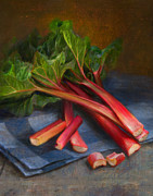 Vegetables Paintings - Rhubarb by Robert Papp