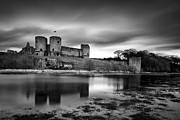 Monochrome Prints - Rhuddlan Castle Print by David Bowman