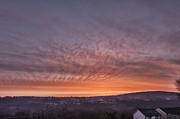 Rhymney Valley Sunrise Print by Steve Purnell