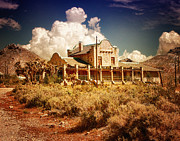 Ghost Town Photo Posters - Rhyolite Station Poster by Steve Benefiel