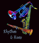 Linda Dunn Art - Rhythm and Hues by Linda Dunn