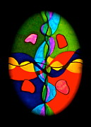 Rhythm Life Egg Print by Lady Picasso Tetka Rhu