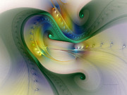 Karin Kuhlmann Prints - Rhythm of Life-Abstract Fractal Art Print by Carlita Cooly