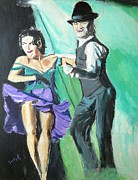 Night Life Paintings - Rhythm of the Night by Judy Kay