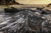 Mt Desert Island Prints - Rhythm of the Surf - Little Hunters Beach Print by Thomas Schoeller