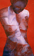 Red Female Nude Paintings - Rhythm Trader by Graham Dean