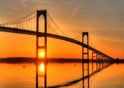 Ri Framed Prints - RI Sunrise Framed Print by Jeff Bord