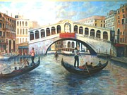 Gondolier Originals - Rialto Bridge by Joanne Morris
