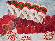 Candy Paintings - Ribbon Candy 1 by Loretta Barra