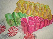 Candy Paintings - Ribbon Candy 2 by Loretta Barra