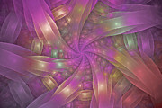 Fractal Designs Prints - Ribbons Print by Sandy Keeton