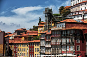 Red Roof Photos - Ribeira Buildings by John Rizzuto