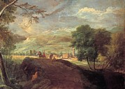 Accademia Prints - Ricci Marco, Landscape With A Torrent Print by Everett