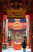 Rich Decoration In Chinese Temple - Sze Yah Temple - Kuala Lumpur - Malaysia Print by David Hill