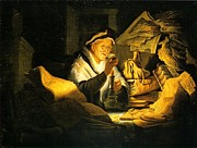 Rembrandt Lighting Prints - Rich Man In Parable Print by Rembrandt