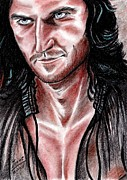 Richard Drawings Posters - Richard Armitage - devilish Guy Poster by Joane Severin