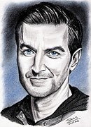 Richard Drawings Posters - Richard Armitage in New-York Poster by Joane Severin