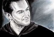 Graphite Pastels - Richard Armitage - smiling eyes by Joane Severin