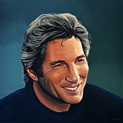 Bride Painting Posters - Richard Gere Poster by Paul  Meijering
