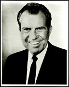 Richard M Nixon Print by Benjamin Yeager