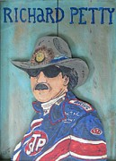 Checker Flag Framed Prints - Richard Petty Framed Print by Eric Cunningham