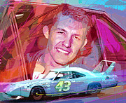 Nascar Paintings - Richard Petty Superbird by David Lloyd Glover
