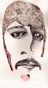 Watercolor Mixed Media Originals - Richard Starsky as Ringo Starr by Mark M  Mellon