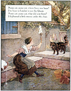 Nursery Rhyme Photo Posters - Richardson: Pussy Cat Poster by Granger