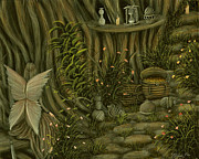 Famous Acrylic Landscape Paintings - Riches. Fairy Tale Illustration By Philippe Fernandez by Philippe Fernandez