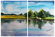 Kasana Paintings - Richmond Park by Shakhenabat Kasana