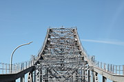 Steel Construction Prints - Richmond-San Rafael Bridge in California - 5D21449 Print by Wingsdomain Art and Photography