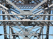 Steel Construction Prints - Richmond-San Rafael Bridge in California - 5D21452 Print by Wingsdomain Art and Photography