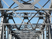 Steel Construction Prints - Richmond-San Rafael Bridge in California - 5D21453 Print by Wingsdomain Art and Photography