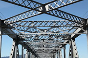 Symmetric Prints - Richmond-San Rafael Bridge in California - 5D21454 Print by Wingsdomain Art and Photography