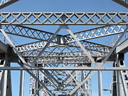 Steel Construction Prints - Richmond-San Rafael Bridge in California - 5D21458 Print by Wingsdomain Art and Photography