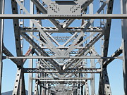 Steel Construction Prints - Richmond-San Rafael Bridge in California - 5D21459 Print by Wingsdomain Art and Photography