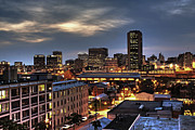 Downtown Metal Prints - Richmond Skyline At Night Metal Print by Tim Wilson