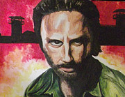 Sherriff Prints - Rick Grimes - The Walking Dead Print by Scott Dokey